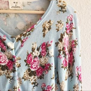 Pins & Needles Sweaters - Pins & Needles Floral Cardigan